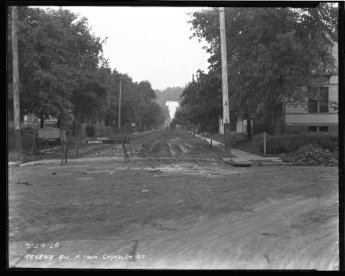 Street Improvement Photographs -- Box 43, Folder 42 (Ravenna Street) -- negative, 1926-09-29