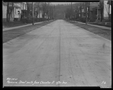 Street Improvement Photographs -- Box 43, Folder 42 (Ravenna Street) -- negative, 1927-03-24