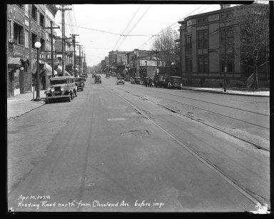Street Improvement Photographs -- Box 43, Folder 44 (Reading Road) -- negative, 1929-04-10