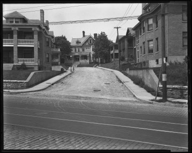 Street Improvement Photographs -- Box 43, Folder 45 (Reading Road) -- negative, 1929