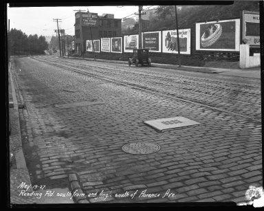 Street Improvement Photographs -- Box 43, Folder 46 (Reading Road) -- negative, 1927-05-19