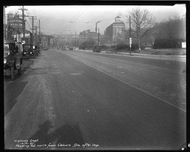 Street Improvement Photographs -- Box 43, Folder 47 (Reading Road) -- negative, 1927-10-10