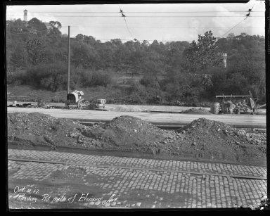 Street Improvement Photographs -- Box 43, Folder 47 (Reading Road) -- negative, 1927-10-12