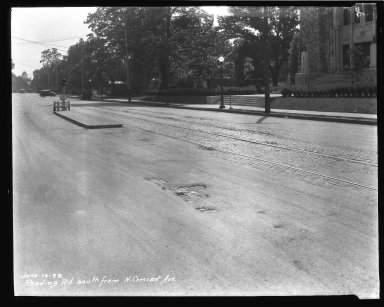 Street Improvement Photographs -- Box 43, Folder 48 (Reading Road) -- negative, 1928-06-14
