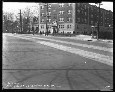 Street Improvement Photographs -- Box 43, Folder 49 (Reading Road) -- negative, 1929-03-12