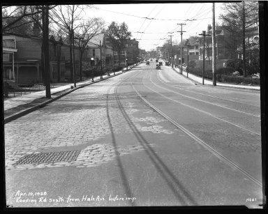 Street Improvement Photographs -- Box 43, Folder 49 (Reading Road) -- negative, 1929-04-10