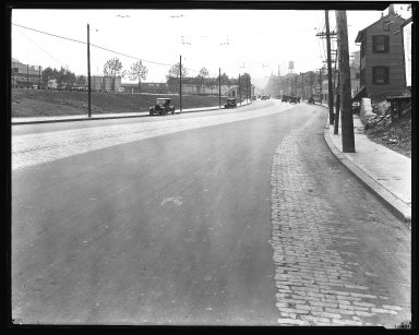 Street Improvement Photographs -- Box 43, Folder 50 (Reading Road) -- negative, 1927