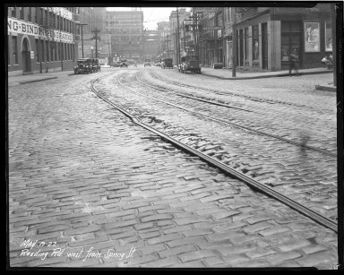Street Improvement Photographs -- Box 43, Folder 51 (Reading Road) -- negative, 1927-05-19