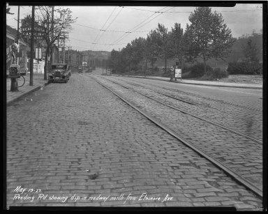 Street Improvement Photographs -- Box 43, Folder 51 (Reading Road) -- negative, 1927-05-19