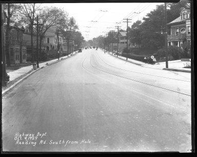 Street Improvement Photographs -- Box 43, Folder 52 (Reading Road) -- negative, 1929-10-04