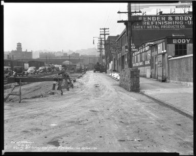 Street Improvement Photographs -- Box 43, Folder 54 (Reedy Street) -- negative, 1939-04-20