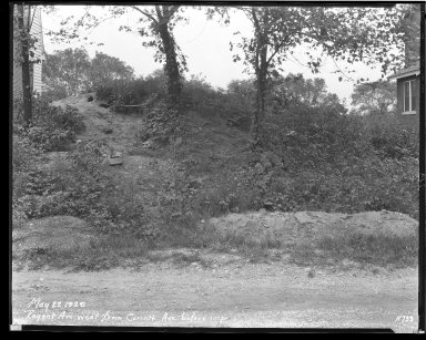 Street Improvement Photographs -- Box 43, Folder 55 (Regent Avenue) -- negative, 1929-05-22