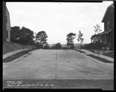 Street Improvement Photographs -- Box 43, Folder 55 (Regent Avenue) -- negative, 1930-07-10