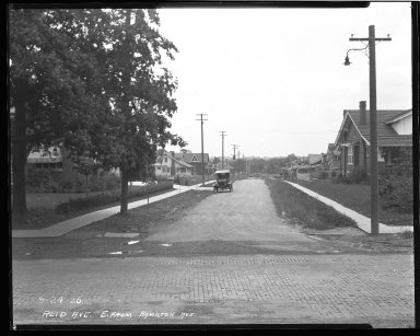 Street Improvement Photographs -- Box 43, Folder 56 (Reid Avenue) -- negative, 1926-09-24