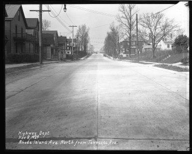 Street Improvement Photographs -- Box 43, Folder 57 (Rhode Island Avenue) -- negative, 1929-11-08