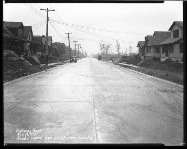 Street Improvement Photographs -- Box 43, Folder 57 (Rhode Island Avenue) -- negative, 1929-12-12