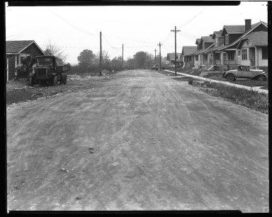 Street Improvement Photographs -- Box 43, Folder 57 (Rhode Island Avenue) -- negative, 1929
