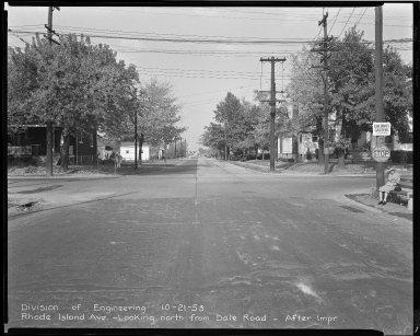 Street Improvement Photographs -- Box 43, Folder 60 (Rhode Island Avenue) -- negative, 1953-10-21