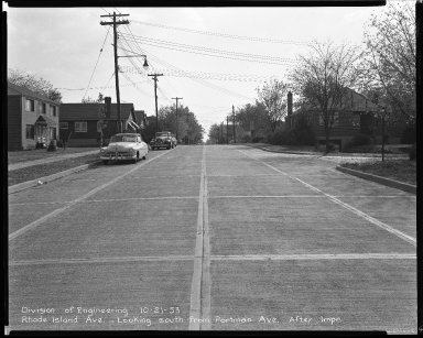 Street Improvement Photographs -- Box 43, Folder 60 (Rhode Island Avenue) -- negative, 1953-10-21