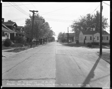 Street Improvement Photographs -- Box 43, Folder 61 (Rhode Island Avenue) -- negative, 1953-10-21