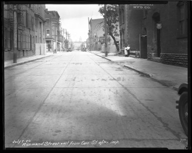 Street Improvement Photographs -- Box 44, Folder 02 (Richmond Street) -- negative, 1929-07-02