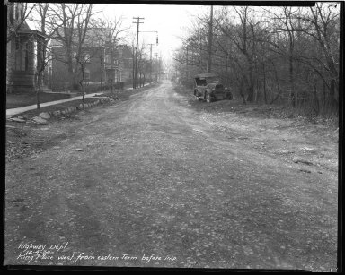 Street Improvement Photographs -- Box 44, Folder 05 (Ring Place) -- negative, 1930-12-04