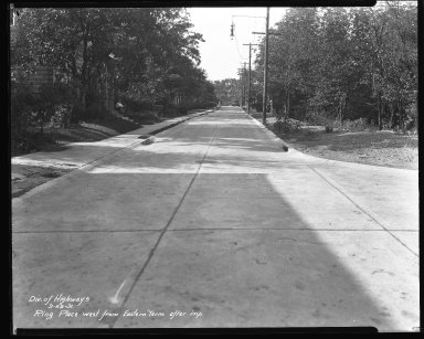 Street Improvement Photographs -- Box 44, Folder 05 (Ring Place) -- negative, 1931-09-29
