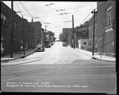 Street Improvement Photographs -- Box 44, Folder 06 (Ringgold Street) -- negative, 1950-08-01