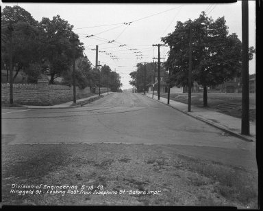Street Improvement Photographs -- Box 44, Folder 06 (Ringgold Street) -- negative, 1949-05-19