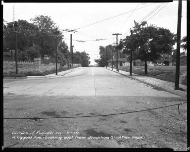 Street Improvement Photographs -- Box 44, Folder 06 (Ringgold Street) -- negative, 1950-08-01