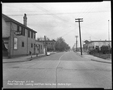 Street Improvement Photographs -- Box 44, Folder 09 (Robertson Avenue) -- negative, 1946-04-11