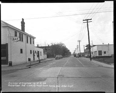Street Improvement Photographs -- Box 44, Folder 09 (Robertson Avenue) -- negative, 1946-10-21