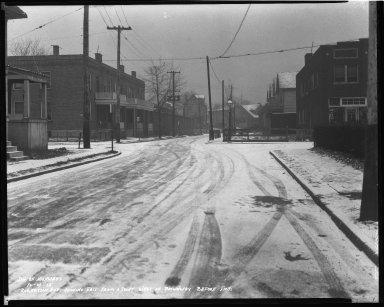 Street Improvement Photographs -- Box 44, Folder 10 (Robertson Avenue) -- negative, 1938-12-29