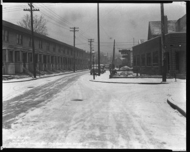 Street Improvement Photographs -- Box 44, Folder 10 (Robertson Avenue) -- negative, 1938-12-29