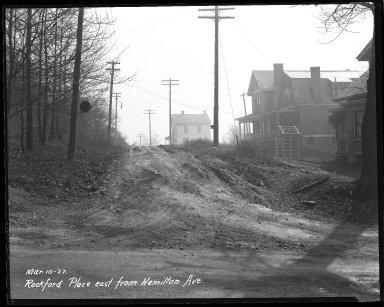 Street Improvement Photographs -- Box 44, Folder 12 (Rockford Place) -- negative, 1927-03-10