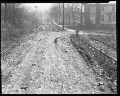 Street Improvement Photographs -- Box 44, Folder 12 (Rockford Place) -- negative, 1927-03-10
