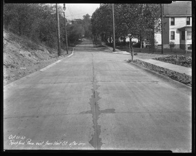 Street Improvement Photographs -- Box 44, Folder 12 (Rockford Place) -- negative, 1927-10-25