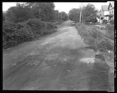 Street Improvement Photographs -- Box 44, Folder 13 (Roe Street) -- negative, 1928