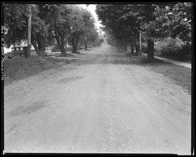 Street Improvement Photographs -- Box 44, Folder 14 (Roe Street) -- negative, 1928
