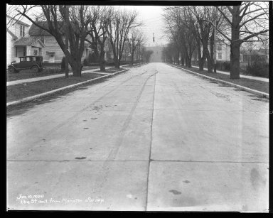 Street Improvement Photographs -- Box 44, Folder 14 (Roe Street) -- negative, 1929-01-10
