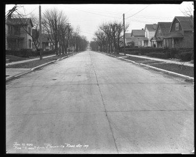 Street Improvement Photographs -- Box 44, Folder 14 (Roe Street) -- negative, 1929-01-10