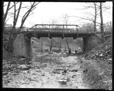 Street Improvement Photographs -- Box 44, Folder 15 (Roe Street Bridge) -- negative, 1930-04-23