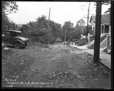 Street Improvement Photographs -- Box 44, Folder 18 (Rosemont Avenue) -- negative, 1928-10-08