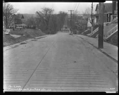 Street Improvement Photographs -- Box 44, Folder 18 (Rosemont Avenue) -- negative, 1929-03-09