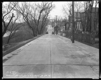 Street Improvement Photographs -- Box 44, Folder 18 (Rosemont Avenue) -- negative, 1931-11-30