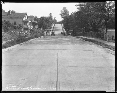Street Improvement Photographs -- Box 44, Folder 18 (Rosemont Avenue) -- negative, 1930-09-19