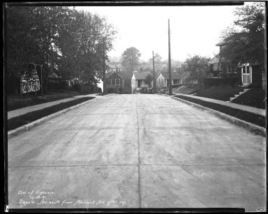Street Improvement Photographs -- Box 44, Folder 25 (Sagola Avenue) -- negative, 1931-10-29