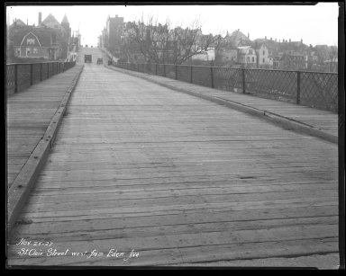 Street Improvement Photographs -- Box 44, Folder 26 (St. Clair Street) -- negative, 1927-11-25