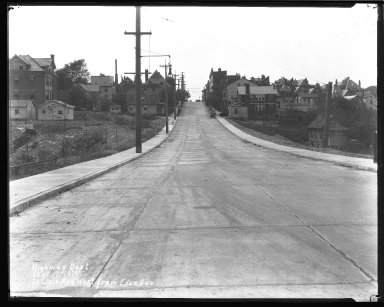 Street Improvement Photographs -- Box 44, Folder 26 (St. Clair Street) -- negative, 1929-09-17