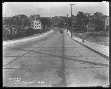 Street Improvement Photographs -- Box 44, Folder 27 (St. Clair Street) -- negative, 1929-09-17